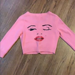 Betsey Johnson salmon pink Marilyn Cardigan